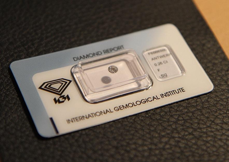 Diamant kaufen, Diamant-0.26-Card